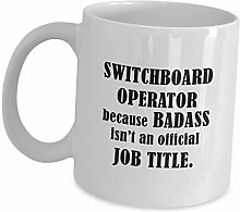 Funny Gift for Switchboard Operator Kaffeebecher -