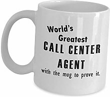 Funny Gifts for Worlds Greatest Call Center Agent