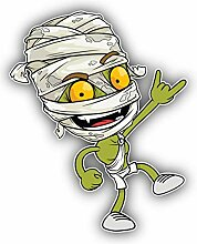 Funny Green Egyptian Mummy - Self-Adhesive Sticker