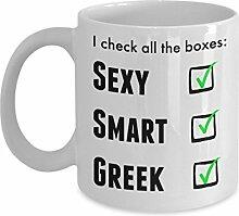 Funny Griechisch Pride Kaffee Tasse für Männer