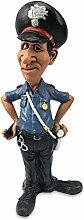 Funny Job Comic Dekofigur Polyfigur Polizist