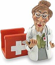 Funny Job Notizzettel-Handyhalter - Ärztin mit Verbandskasten