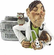 Funny Job Notizzettel-Handyhalter - Tierarzt mit Hase, Hund und Eule