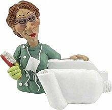 Funny Job Notizzettel-Handyhalter - Zahnärztin mit Zahnbürste