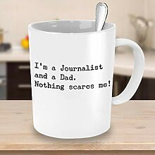 Funny Journalist Papa Kaffeetasse Journalism Press
