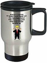 Funny Papa Trump Head Travel Mug Donald Trump