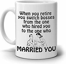 Funny Retirement Geschenke Becher ideal für