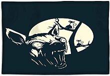 Funny T shirt Design mit Angry Chihuahua Abendessen waschbar einfach zu reinigen Platzdeckchen, Microfaser, mehrfarbig, 4er-Se