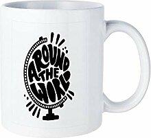 Funny White Coffee Mug, Travel Life Style