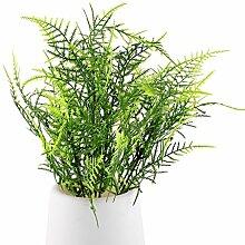 funnytoday365Kunststoff grün 7Stielen Kunstpflanze Spargel Farn Gras Blume Bonsai Garten Blumen Zubehör