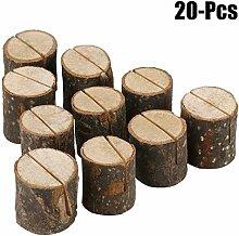 Funpa Holzkartenhalter, 20PCS Holz Foto Halter