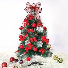 Funpa Mini Christmas Tree Bowknot Schneeflocke