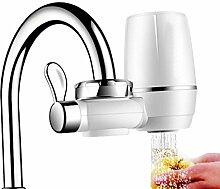 FUNRUI 9 Schicht Wasserhahn Wasserfilter, Leitungswasser Filter für Trinken, Küche, Reduziert Chlorgehalt, mit Waschbarem Keramischen Filterpatrone