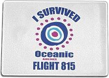 Funtasstic Glasschneidebrett I Survived flight 851