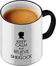 Funtasstic Tasse Keep Calm and Believe in Sherlock