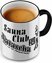 FunTasstic Tasse Sauna Club Natascha Tasse Kaffeepott by StyloTex