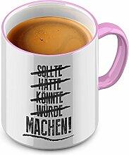 Funtasstic Tasse Sollte Hätte - Kaffeepott
