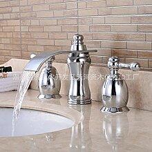 furesnts Haus und moderne Küche Armaturen Waschbecken der Masse unter des-Mischer Becken Becken Wasserfall Wasserhahn von heißem und kaltem Wasser, Hähne (Standard G 1/2Schlauch Anschlüsse Universal)