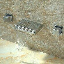 Furesnts moderne Home Küche und Bad alle Kupfer Wasserhahn warmes und kaltes Mischbatterie Küche Badezimmer Waschbecken Armaturen Waschbecken Wasserhähne Two-Handles Taps(Standard G 3/8 Universalschlauch Ports)