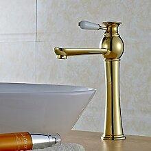 Furesnts moderne Home Küche und Bad Armatur europäischen Luxus gold Taps Kupfer über Zähler Becken-weiten warmes und kaltes Bad Waschbecken Waschbecken Mischbatterie taps Taps, Toilette(Standard G 3/8 Universalschlauch Ports)