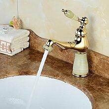 Furesnts moderne Home Küche und Badezimmer Waschbecken Wasserhahn Wasserhahn Continental ziehen retro-Kupfer warmes und kaltes Shampoo ausziehbare Sitzbank Waschtischmischer,(Standard G 3/8 Universalschlauch Ports)