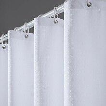 Furlinic Duschvorhang Überlänge 180x210 für