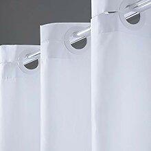 Furlinic Überlänge Duschvorhang 200x240 Weiß,