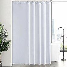 Furlinic Überlänge Duschvorhang Weiß
