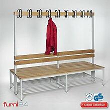 Furni 24 Umkleidebank Sitzbank Garderobenbank