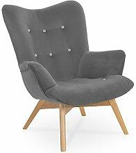 Furnibay Angel Stoff Beine aus Holz Sessel