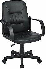 FURNISH 1 Höhenverstellbar durch pneumatische Gasheber,Schönen Stuhl Büro Drehstuhl Stuhl Auch Heben Sie auf und ab Stuhl Oder Lift Stuhl Schwarz