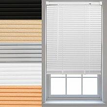 Furnished venezianische Fenster-Jalousien aus PVC, Textil plastik, weiß, 90 x 150 cm