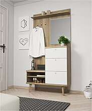 furniture24_eu Diele Flur Garderobe Primo mit