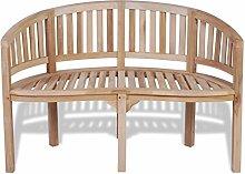 Furnituredeals Bananenbank aus Teakholz 2Sitzer 120cm.Die Bank sind bequem und elegant und Sara Wunderschöne im Garten