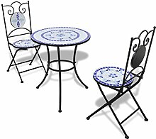 Furnituredeals Bistrotisch 60cm mit Mosaik und