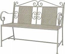Furnituredeals Gartenbank aus Stahl 115x 58,5x
