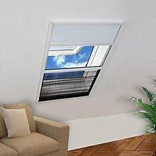 Furnituredeals Insektenabwehr Insektenschutz-Plissee fur Fenster Jalousie Aluminium 60x80 cm Fliegengitter Rahmen-Material: Aluminium Muckenabwehr