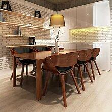 Furnituredeals Stuhl Badezimmer Essen 6PCS Holz