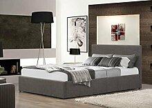 FurnitureDepot1 Grau 5ft King Size Gepolsterten