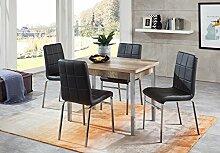 furnTastic Linda/Hermes Tischgruppe Lederoptik