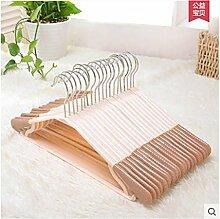 FuRongHuang 20 43 Cm Aus Kunststoff Kleiderbügel Haushalt Drehbare Klammer Und Dick Rutschfeste Wäscheständer, 20, Metall Haken Braun
