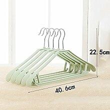 FuRongHuang 20 Kleiderbügel, Erwachsene Keine Marke Bügel, Kleiderbügel, Kunststoff Kleiderbügel, 20, Hanger Anzug Mantel Metall Haken Grün