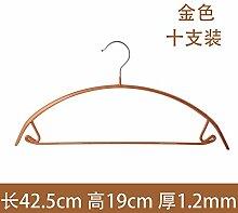 FuRongHuang Keine Marke Rutschfeste Kleiderbügel Edelstahl Wäscheständer Waschen Und Trocknen Von Kleidung Aufhängen 10 42 Cm, 10, Runder Haken - Gold