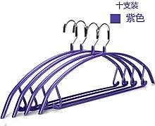 FuRongHuang Keine Marke Rutschfeste Kleiderbügel Edelstahl Wäscheständer Waschen Und Trocknen Von Kleidung Aufhängen 10 42 Cm, 10, Elegante Lila