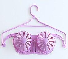 FuRongHuang Kleiderbügel, Bh-Bügel, Multi Funktion Hanger, Verformbaren Unterwäsche Bügel 5 38 Cm, 1, Lila Farbe