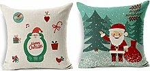 Furun Vintage Weihnachten Kissenhülle Baumwolle