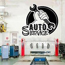 Fushoulu 48X42Cm Auto Service Fenster Vinyl Cut
