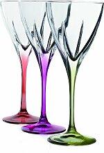 Fusion Crystal Wasserkelch-Set, mehrfarbig