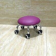 Fuß aus Holz Hocker Hocker Stühle Hocker mit Riemenscheibe Kind Walker Walker mit Baby Artefakt Multi Color Optional, 23 cm Lila