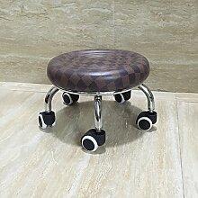 Fuß aus Holz Hocker Hocker Stühle Hocker mit Riemenscheibe Kind Walker Walker mit Baby Artefakt Multi Color Optional, 23 cm Braun Grid Ring